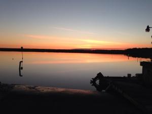 Sunset in Spring Creek.